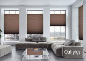 colby blinds with brown color from Callistus Blinds