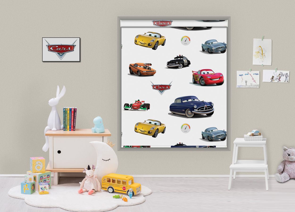Roller printed blinds cars