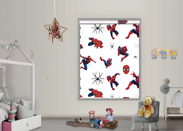 Roller printed blinds spiderman